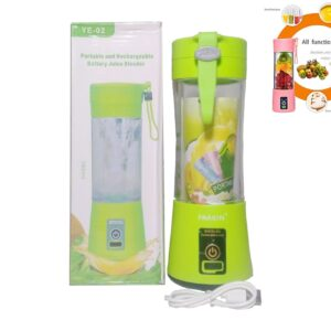 6 Blades Electric Blender Juicer Rechargeable USB Charging Mixer 380ml Glass