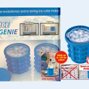 The original ICE GENIE Ice Cube Maker! Space Saving Ice Cube Maker, Holds up to 120 Ice Cubes