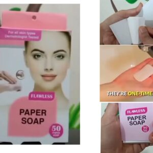 Travel flawless paper soap washing hands bath clean scented 50 sheets of paper 1 disposable box soap portable mini paper